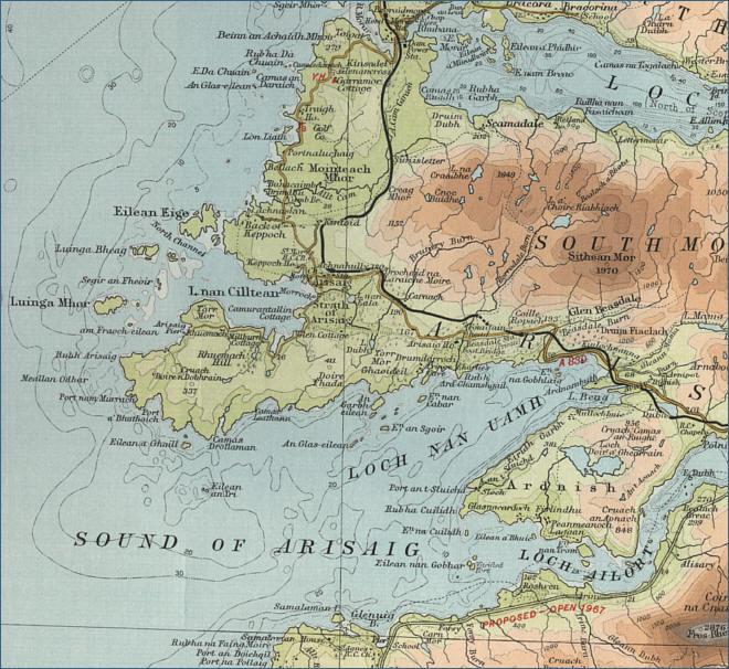 Lochaber Scotland Map.Arisaig Map