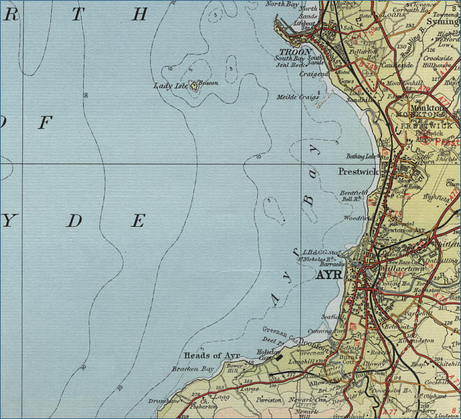 Troon Scotland Map.Ayr Map