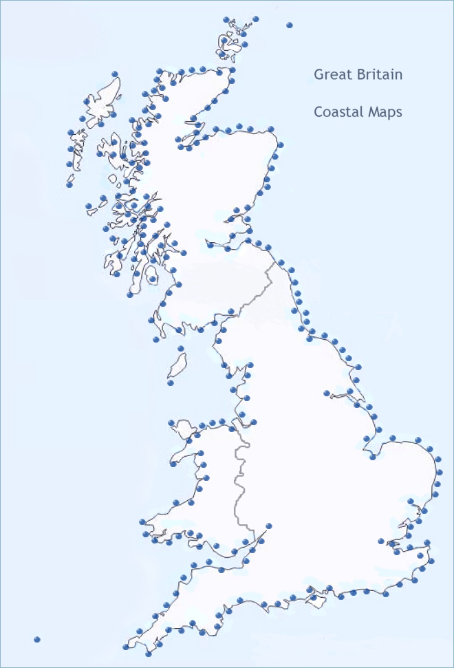 Worksheet. BRITISH COAST MAPS