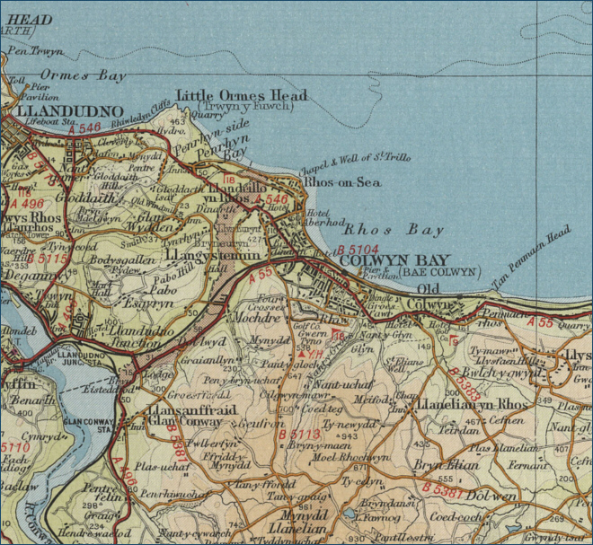 Colwyn Bay Map