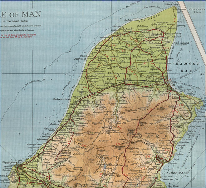 Northern Isle of Man Map