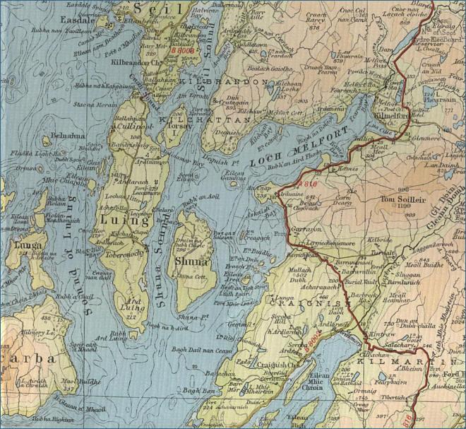 Kilmartin Map