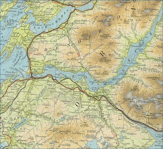 Loch Etive Map