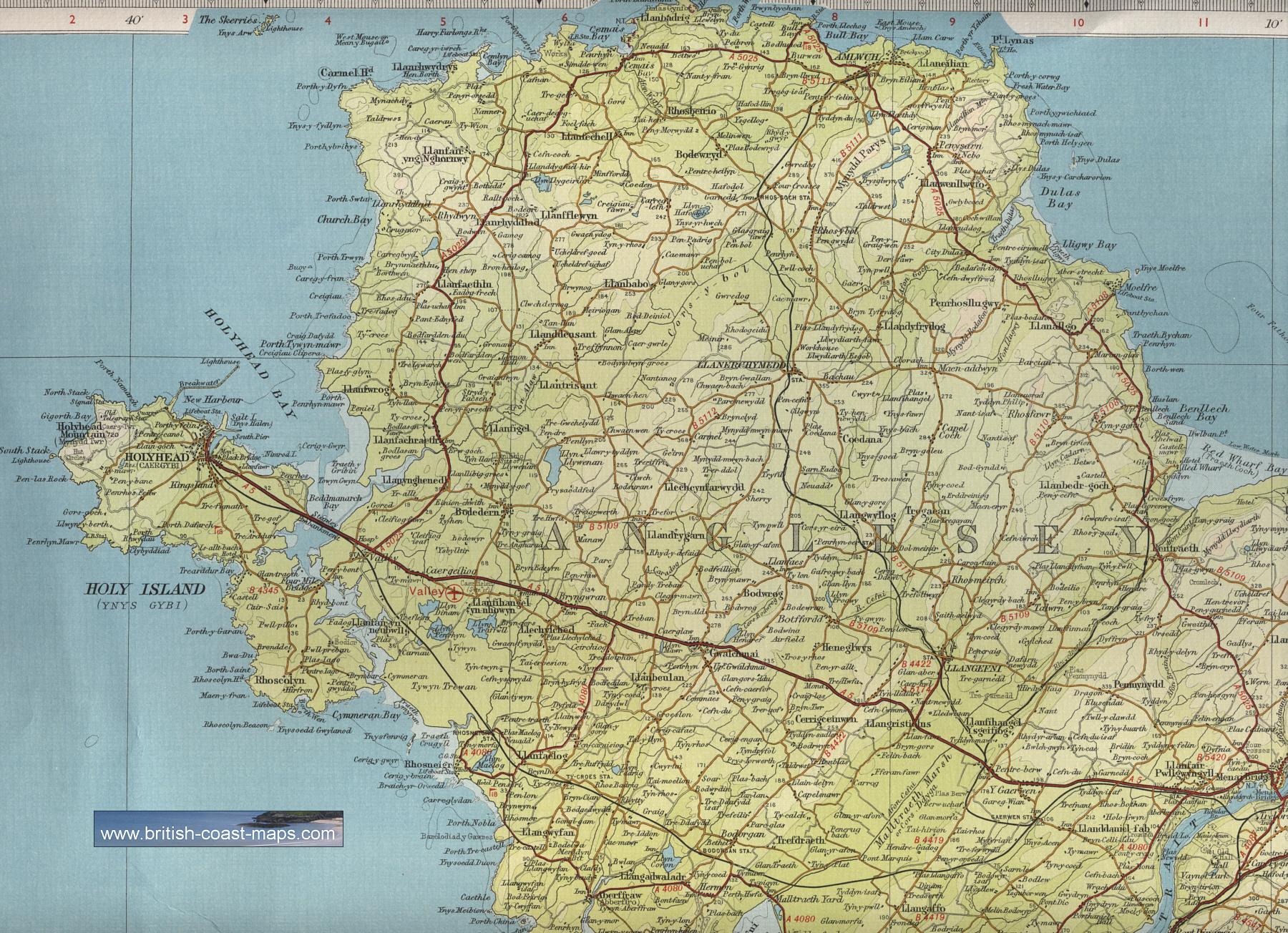 Map Of Anglesey Anglesey Map Map Of Anglesey