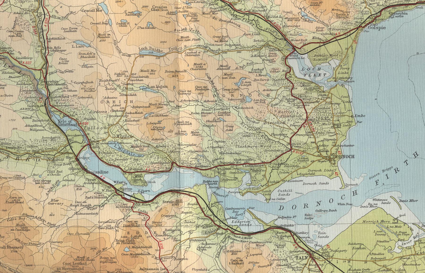 Dornoch Firth Map