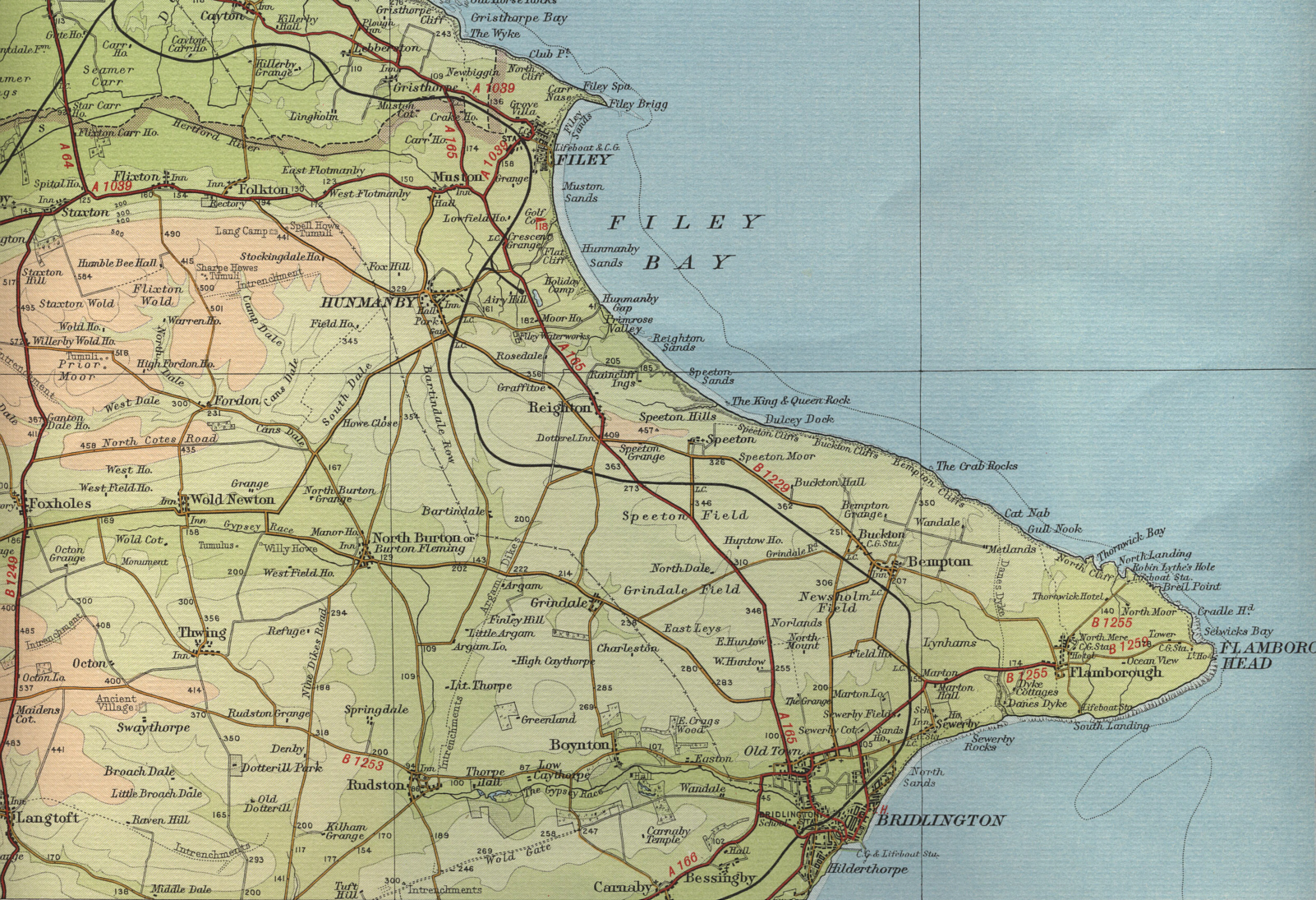 Map Of Yorkshire Coast Filey Map Map Of Yorkshire Coast