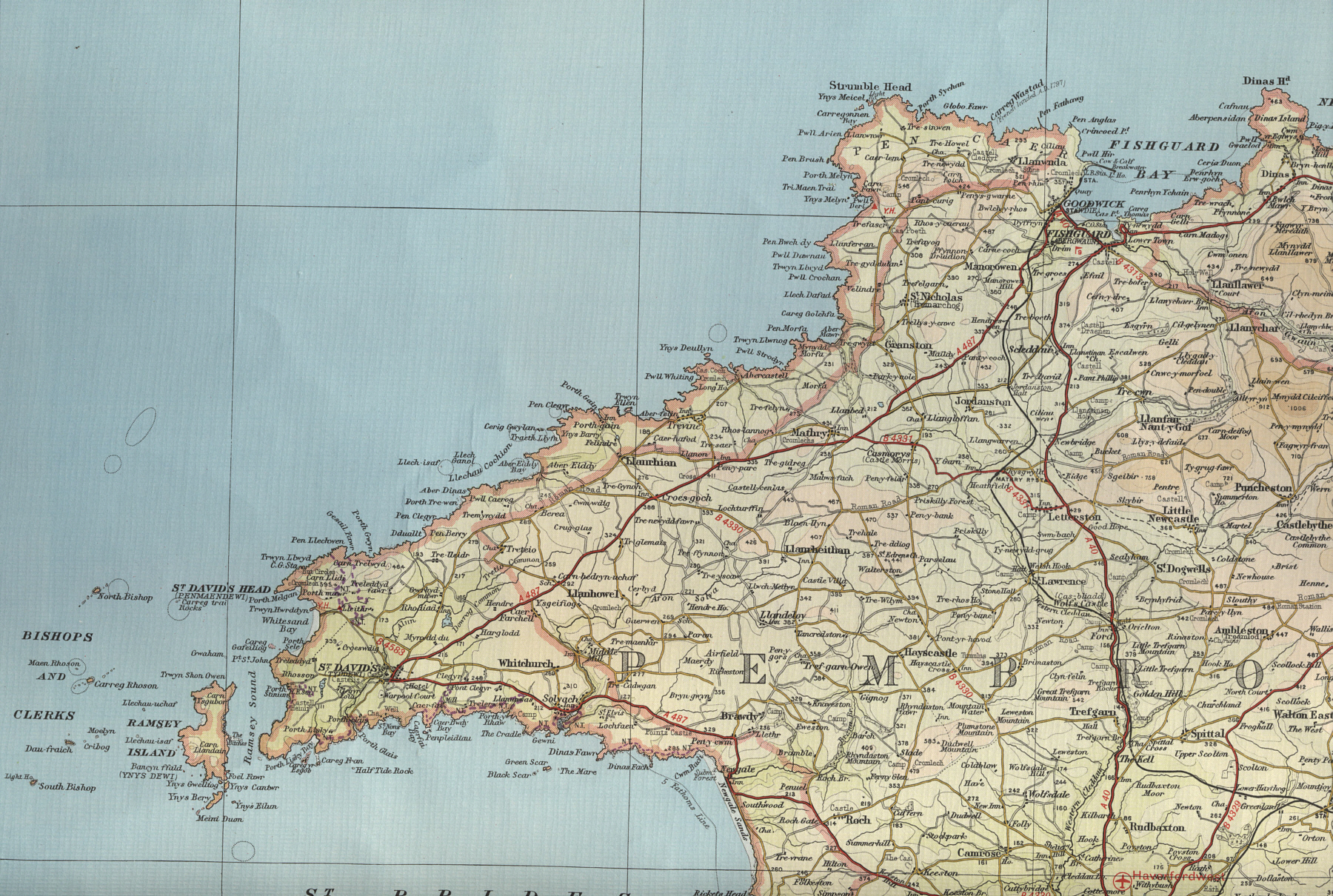 Image Gallery Map Fishguard