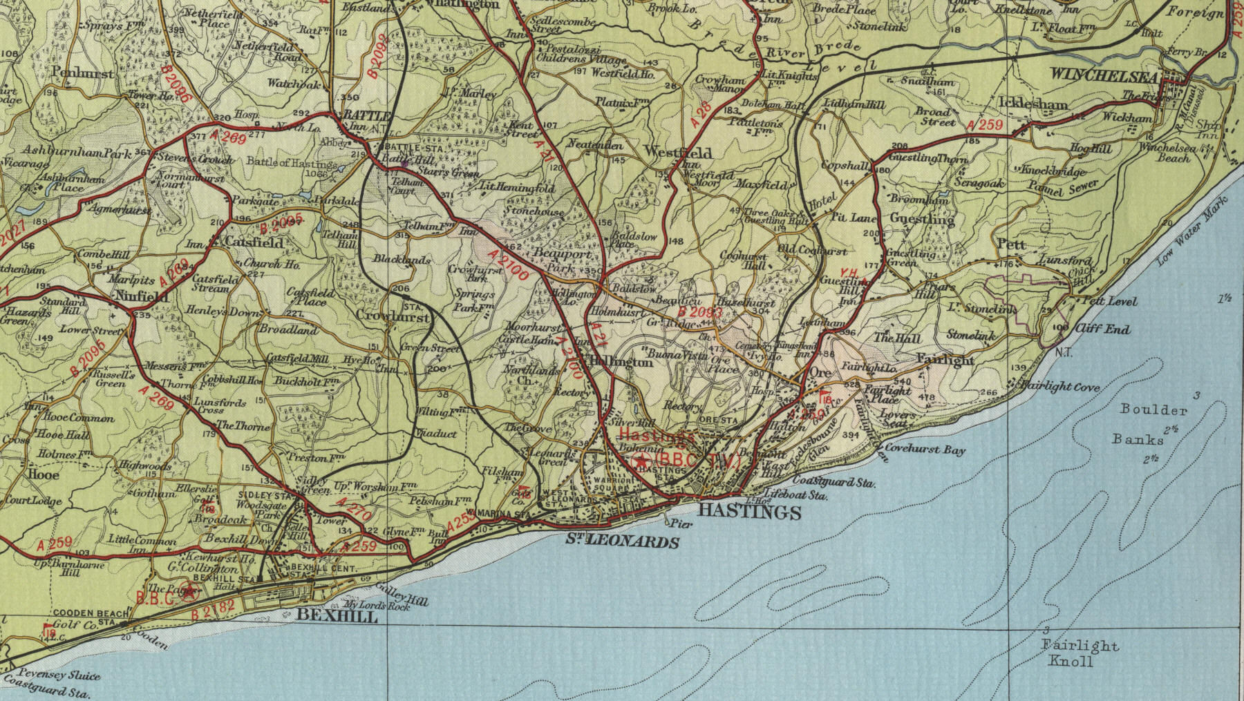 Map Of Hastings Hastings Map