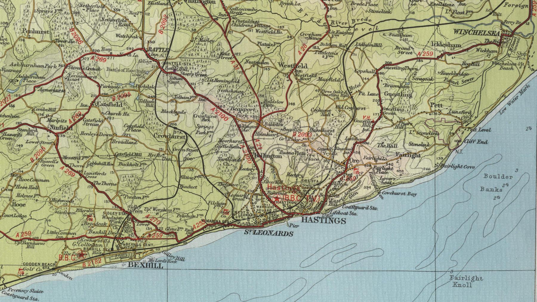 Map Of England Hastings.Hastings Map