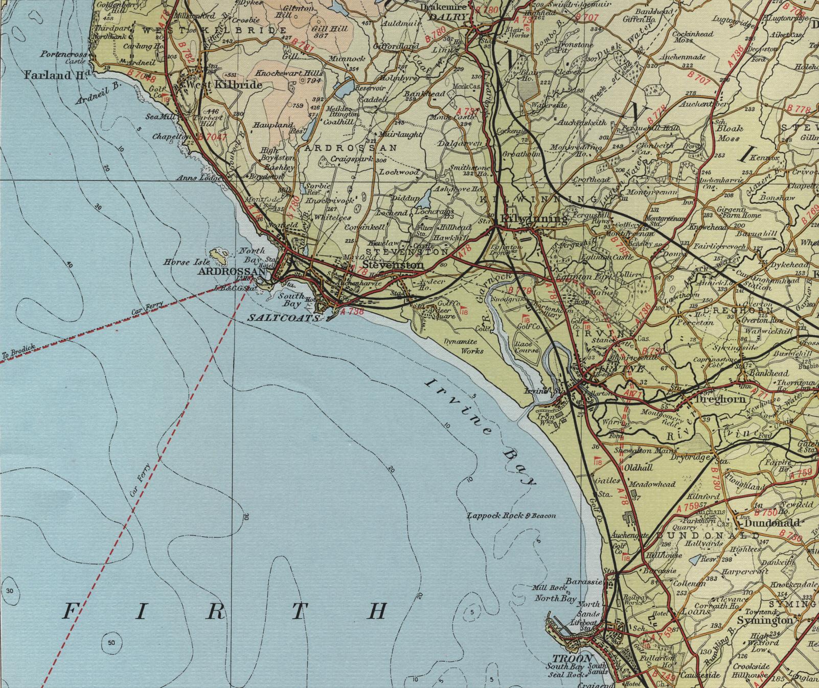 irvine map Map Of Ardrossan Map Of Ardrossan #7 map of ardrossan ayrshire