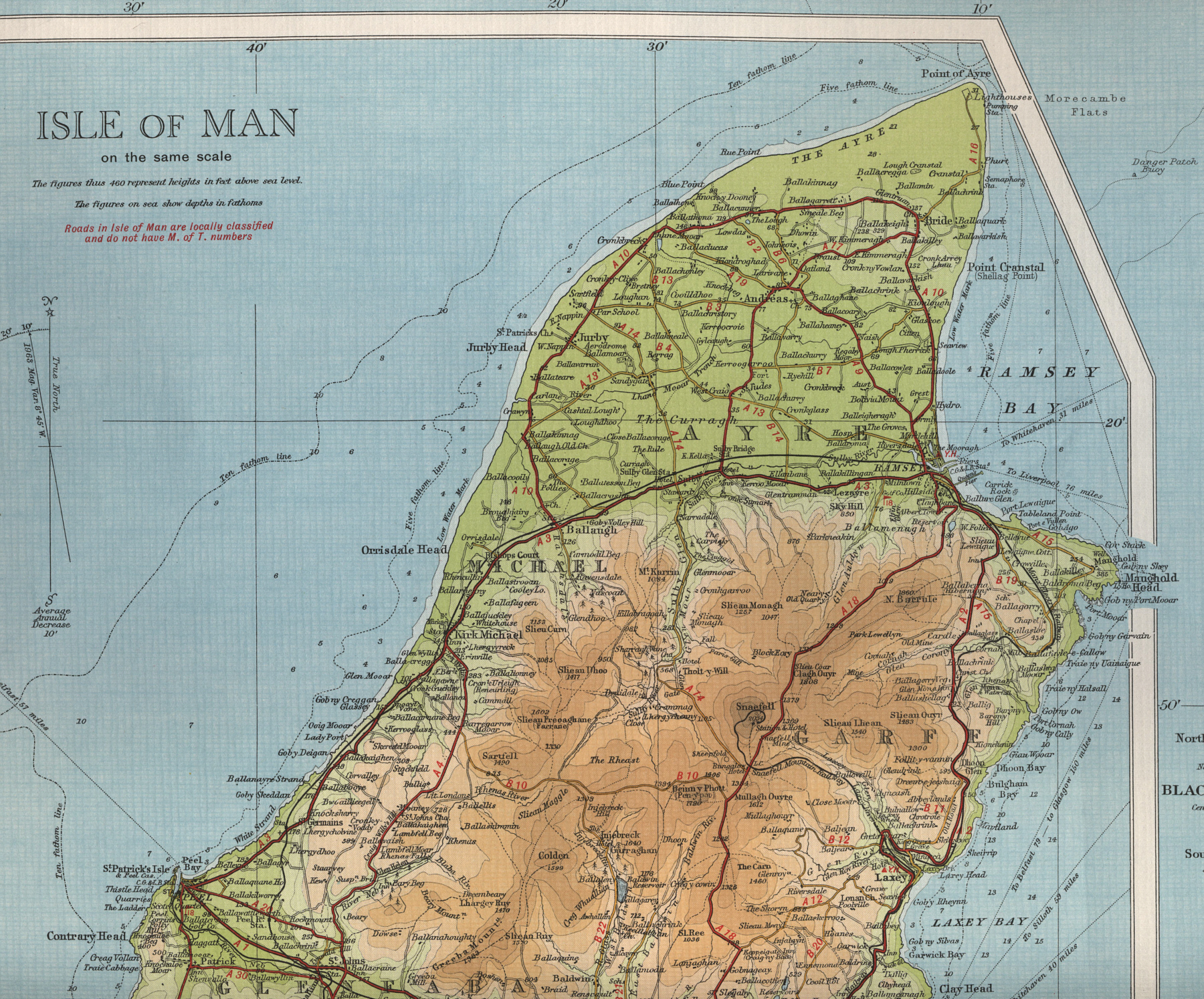 North Isle Of Man Map - Isle of man map