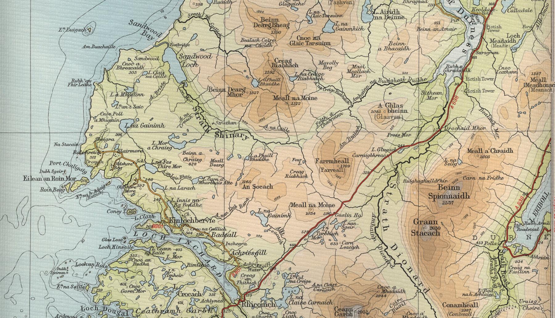 Kinlochbervie Map