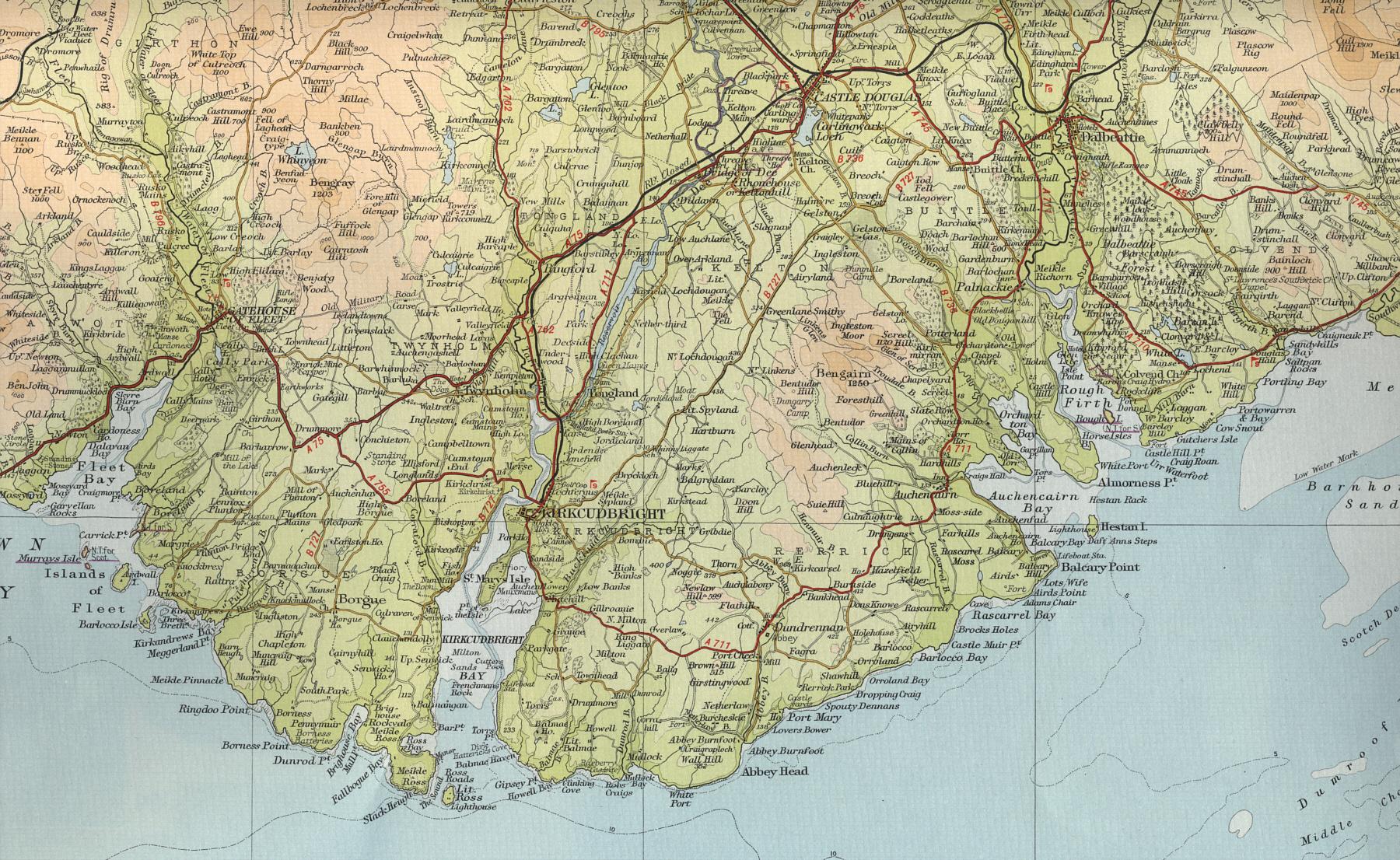 kirkcudbright map