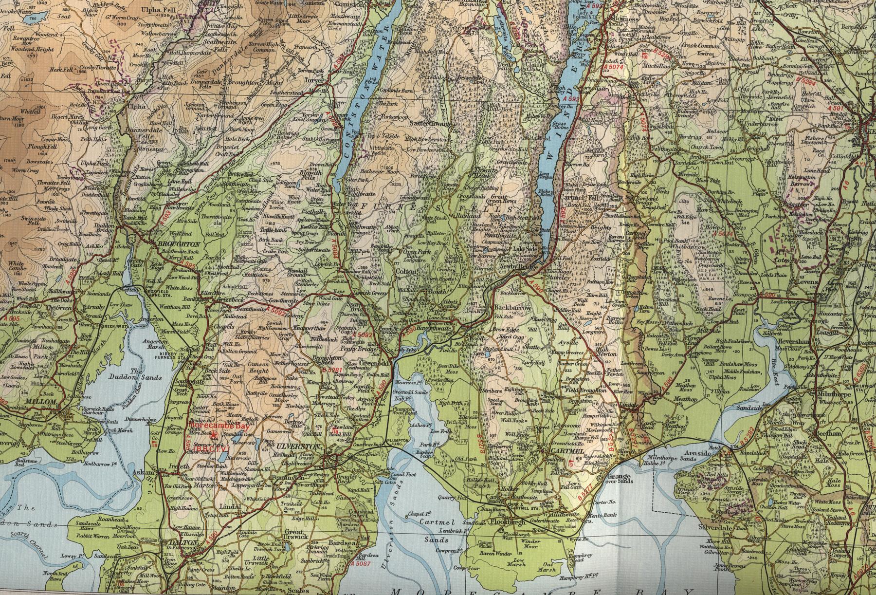 Map Of England Lake District.Lake District Map