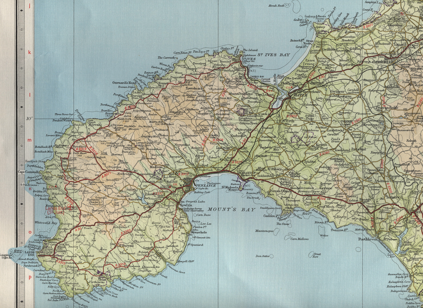 Lands End England Map.Land S End Map