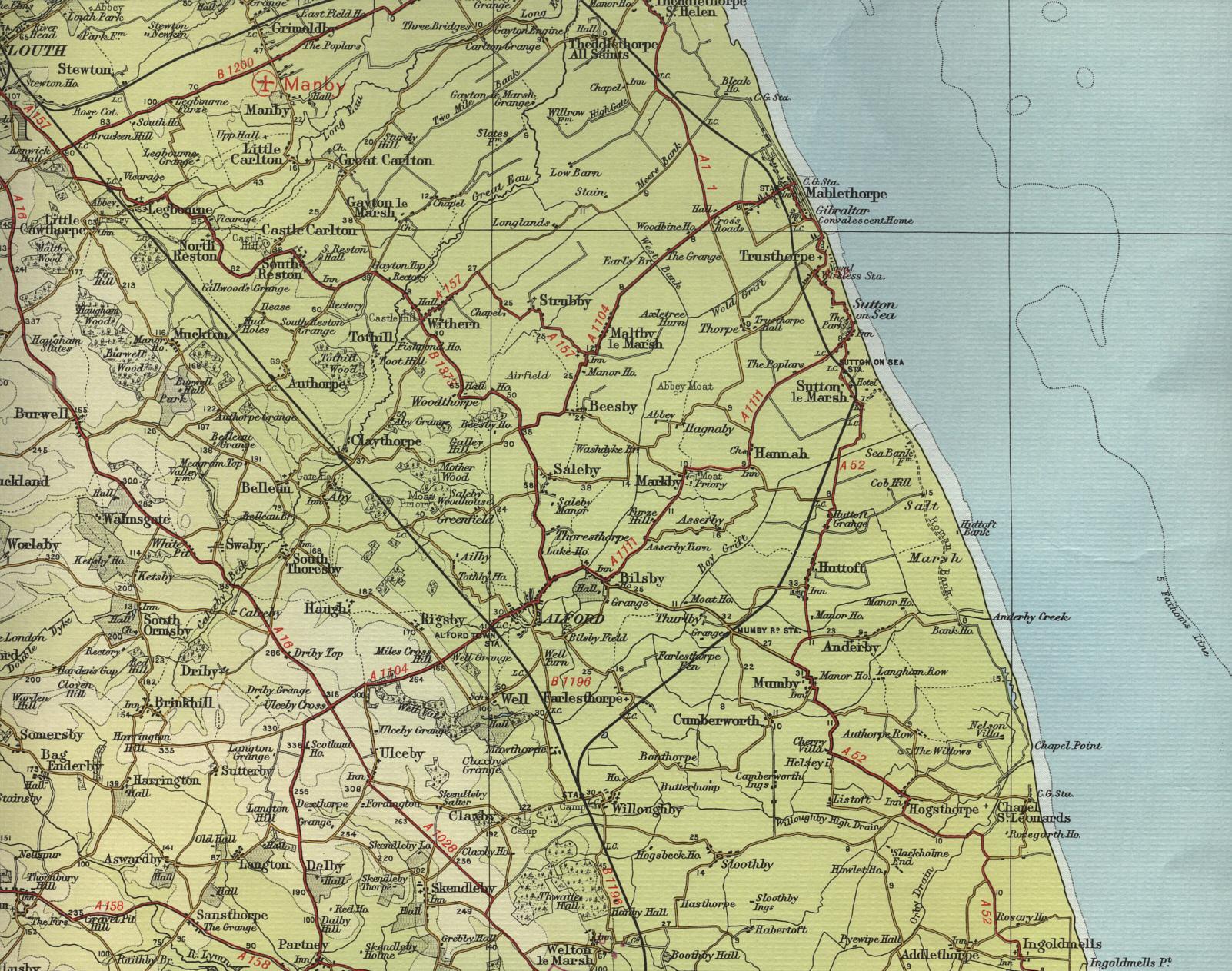 Lincoln Coast Map