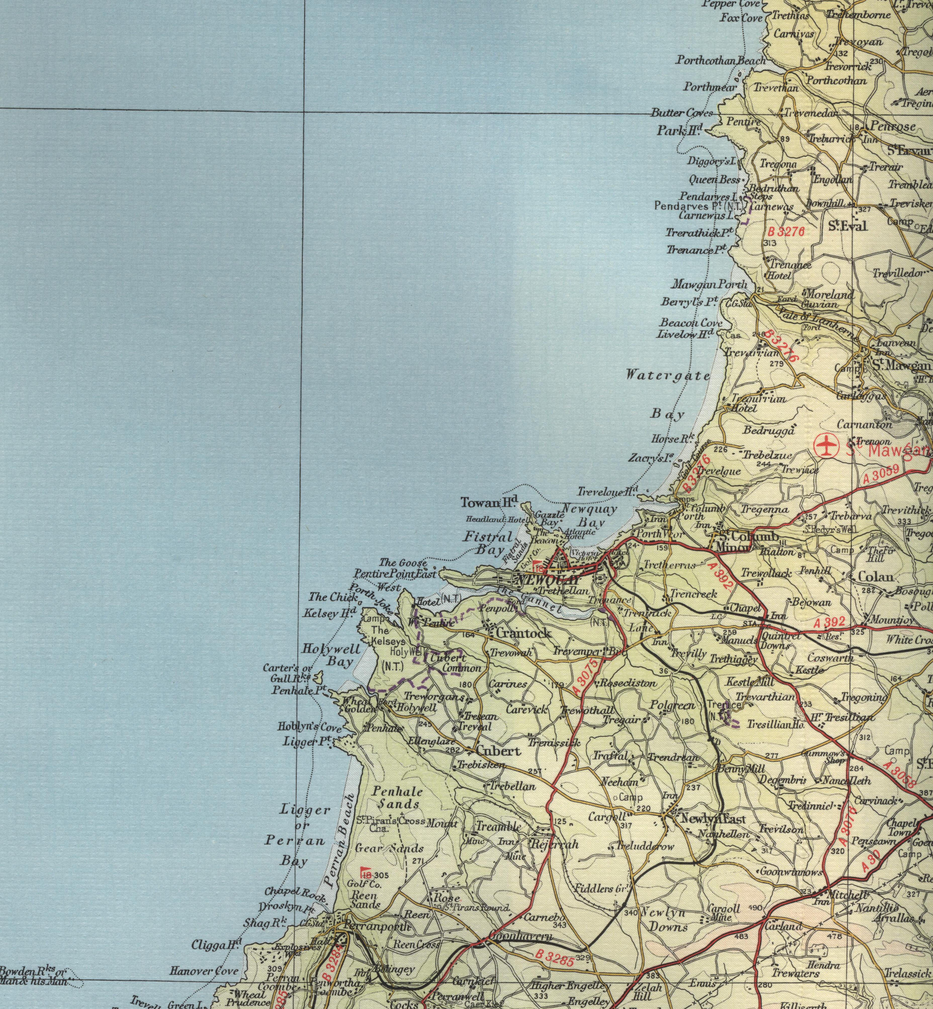 North Cornwall Map