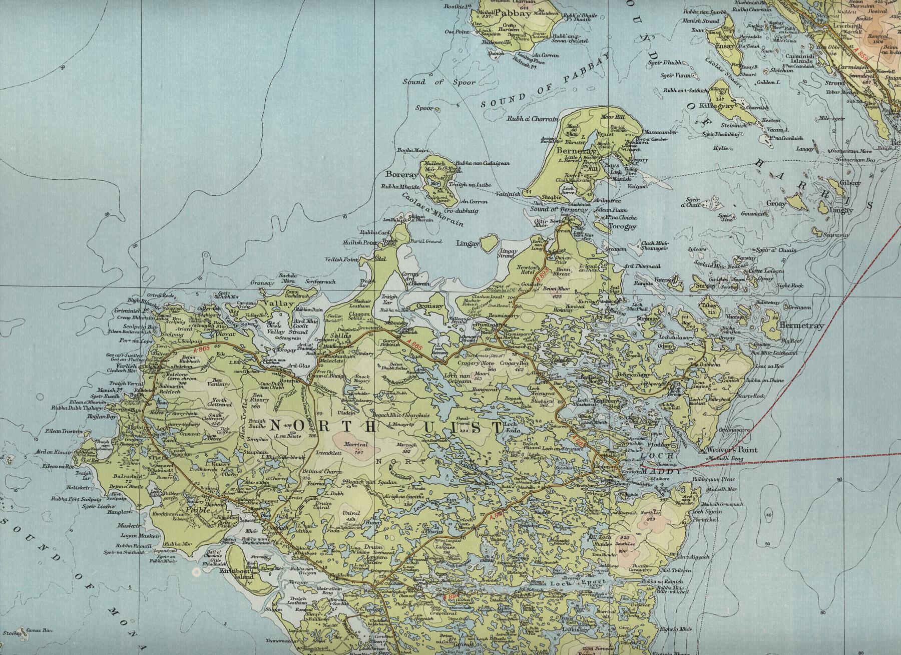 North Uist Map