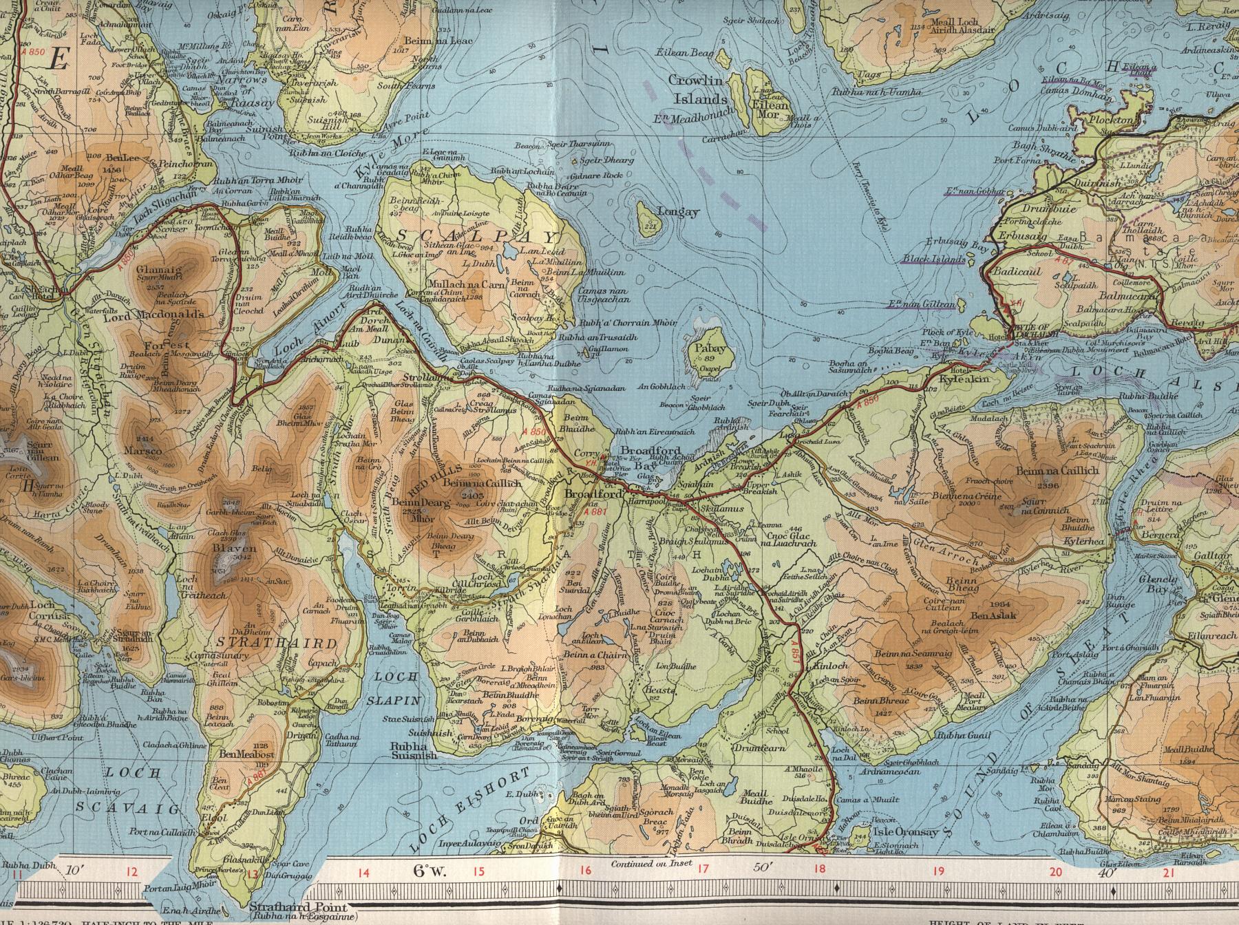 Skye Scotland Map