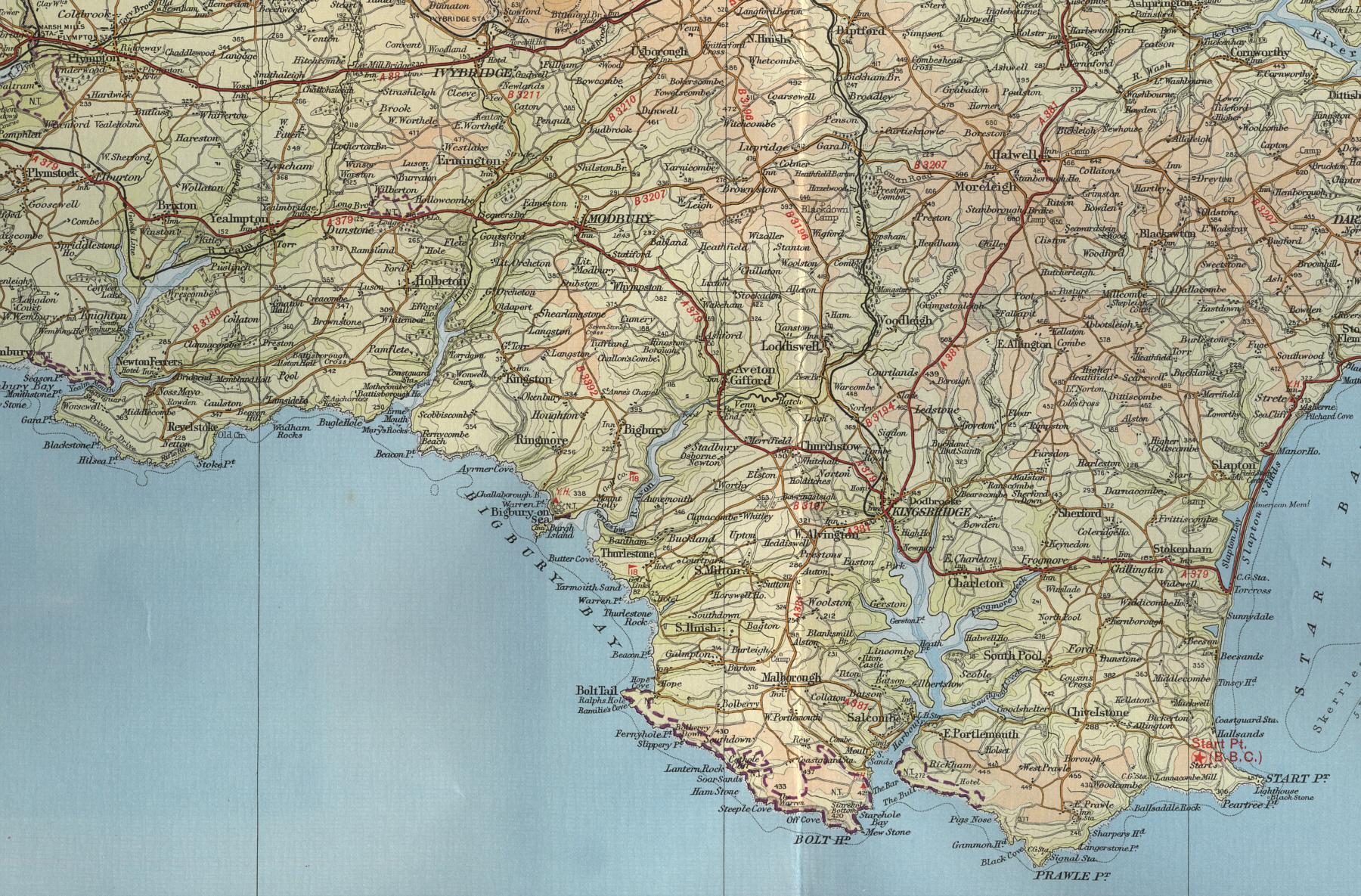 South Devon Map South Devon Map