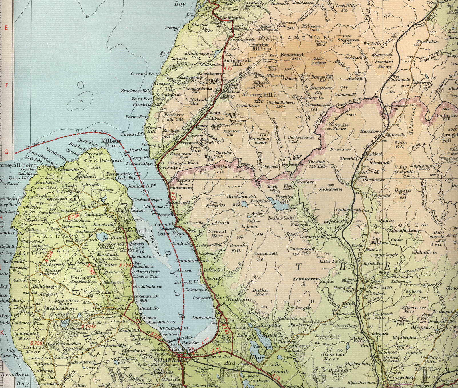 stranraer map