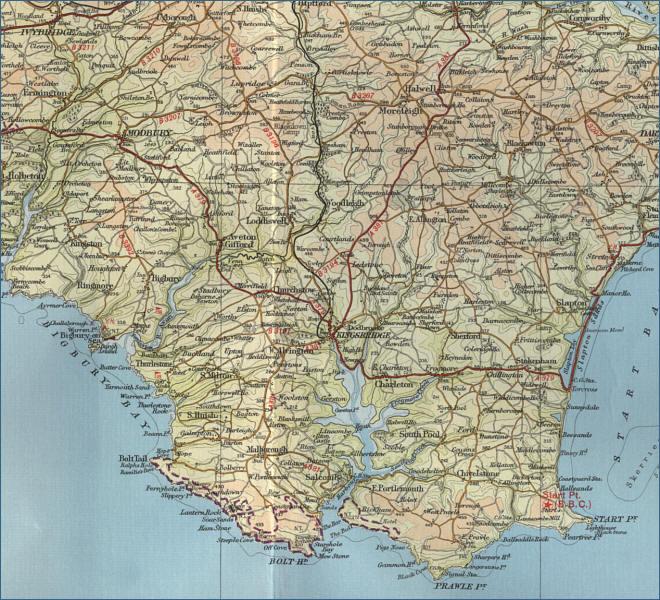 South Devon England Map.South Devon Map