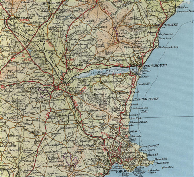Teignmouth Map